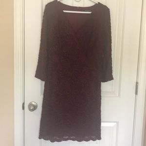 Sharagano Cocktail Dress - Maroon - sz10